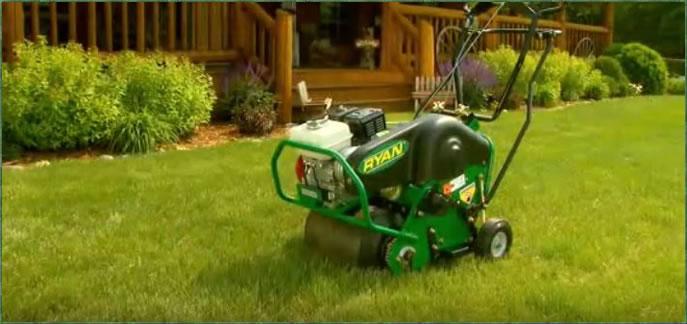 lawn aeration services aerator
